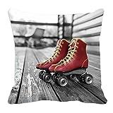 meSleep Roller Skates 3D Kissenbezug Grau Dekokissen Fall 12