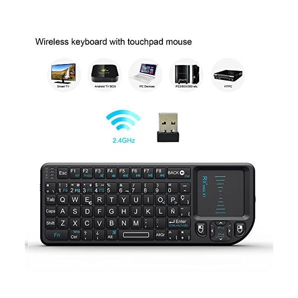 51ScP3RBMAL. SS600  - Rii Mini X1 teclado inalámbrico con ratón táctil - compatible con Smart TV, Mini PC Android, PlayStation, Xbox, HTPC, PC, Raspberry Pi