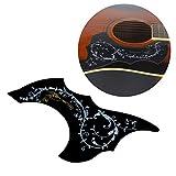 Milopon Pickguard Plaque de Protection Motif Fleurs Oiseaux Autocollant Pour Guitare Acoustique