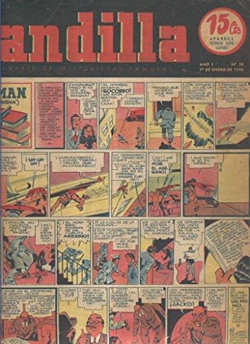 Pandilla semanario de historietas famosas numero 026: poster central San Lorenzo de Almagro ( procede de tomo desencuadernado)