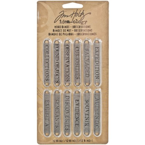 Tim Holtz idea-ology Beobachtungen Wort Bands, - Halloween Metal-band Usa