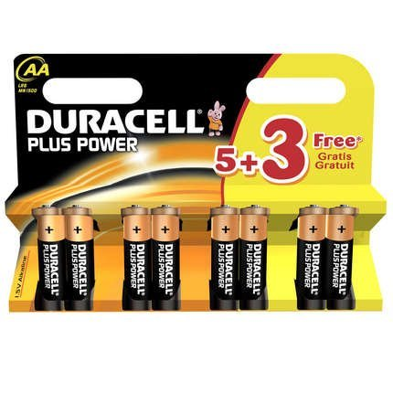 Price comparison product image Duracell- Plus Power AA5+3