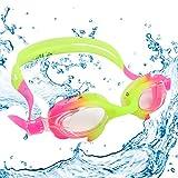 Bezzee-Pro Confezione da 3 Occhialini, Unisex Bambini, Blue/Yellow/Pink, con Cinturini Regolabili e Tappi per Orecchie e UV Anti Appannamento Protezione