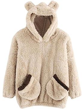 Bluestercool Pullover Donna Invernali Hoodie Felpa Inverno Caldo