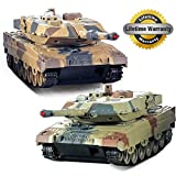 RC Tank 2 Pack, 2 Set Fernbedienung 2.4G Infrarot Schlacht Tank Camouflage Military Vehicle