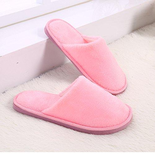LaxBa Femmes Hommes Chaussures Slipper antiglisse intérieur Pink