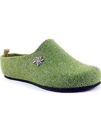 Florance C38712-2 Verde Ciabatte Pantofole Donna Invernali Calde Plantare  in Vera Pelle Made in b12f646499d