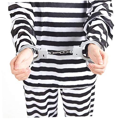 MICHAELA BLAKE Neuheit Halloween Plastikhandschellen Gefangener Handschelle Neuheit Halloween Kostüme Cops and - Cops And Robbers Kostüm