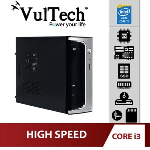 Pc Desktop Micro Vultech Core Evo i3-4130 8Gb SSD...