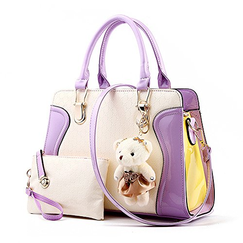 women-2-piece-tote-bag-pu-leather-purse-bags-set-for-work-travel-shopping-beach-purple