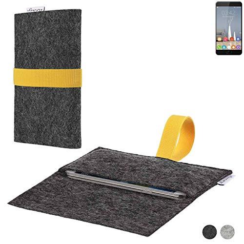 flat.design Handy Hülle Aveiro für Oukitel K6000 Plus passgenaue Filz Tasche Case Sleeve Made in Germany