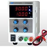 SKYTOPPWER Fuente de alimentacion regulable DC 0- 30V 0- 10A 4 dígitos de alta precisión EU Plug