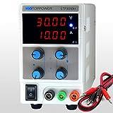 SKYTOPPOWER alimentatore regolabile stabilizzato laboratorio alta precisione display led 4 cifre regolabile DC 0- 30V 0- 10A 300W regolabile adattatore EU plug