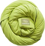 manduca Sling > Lime < Elastisches Tragetuch 100% Bio-Baumwolle GOTS-Zertifikat, 3 Bindeanleitungen, für Neugeborene und Babys bis 15 kg, grün