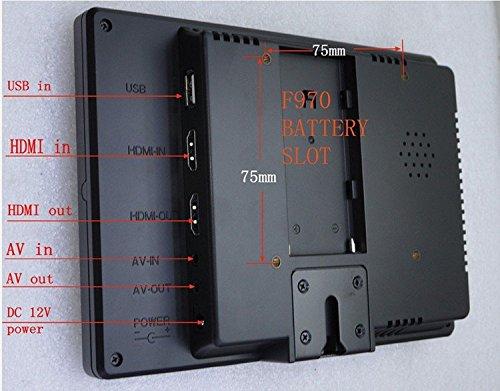 Gowe 17,8cm IPS HD Monitor Video Kamera 1280* 768mit USB HDMI-Eingang für Canon nilkon Sony DSLR Kamera Camcorder, F970, Sonne Schatten (Sony Dslr Monitor)