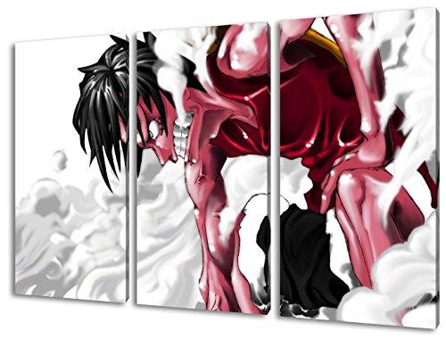 Anime One Piece, Tela da parete in 3 parti (120x80cm), qualità TOP! Illustrazione da parete realizzata in Germania disponibile in diverse misure, da quella piccola fino alla grande (XXL)! Stampa conveniente e incorniciata pronta per essere appesa - con motivo fantastico e unico nel suo genere. Non un semplice pos-ter, né un manifesto!