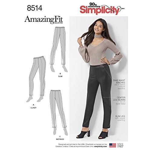 Simplicity Muster 8514H5(6–8-10–12–14) Miss/Petite Amazing Fit Skinny Hose, Papier, weiß, 22x 15x 1cm (Petite Hose Weiße)