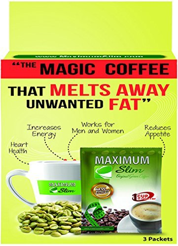 """Maximum Slim Sample Pack The Healthy 4-in-1 Organic Coffee with Green Coffee and Green Tea. \""""The Magic Coffee that Melts Away Unwanted Fats\"""" by Maximum Slim"""