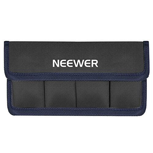 Neewer DSLR Akku Tasche für AA Batterie und lp-e6 lp-e8 lp-e10 lp-e12 en-el14 en-el15 fw50 f550 und mehr, geeignet für Akku von Nikon D800 Canon 5DMKIII Sony A77 (blau)