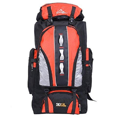 ZC&J Nylon impermeabile borsa da montagna all'aperto, generale maschio e femmina, escursionismo, alpinismo, campeggio, zaino multifunzionale, zaino regolabile di alta qualità,E,56-75L A