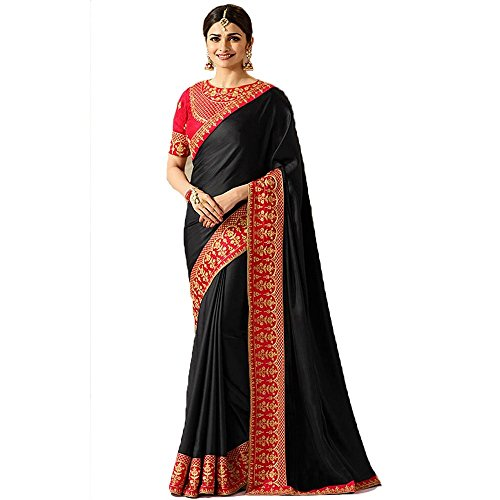 TRADITIONAL FASHION SANA SILK EMBROIDERED SAREE FOR WOMEN WITH BANGLORI SILK BLOUSE...
