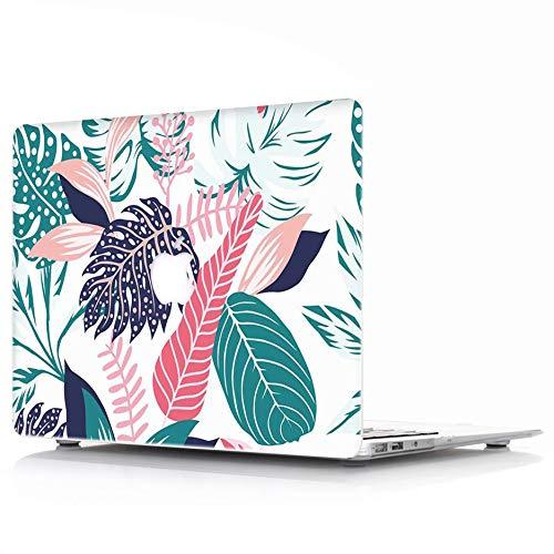 MacBook Air 13 Hülle Modell: A1369 / A1466 - L2W Schutzhülle, Soft-Touch-Kunststoff-Gummi Beschichtet Shell Cover für MacBook Air 13 - Tropical Palms Blätter 05 Soft-touch-gummi