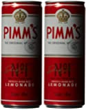 Pimm's and Lemonade Pre-Mixed and Ready to Drink Can 250 ml (Pack of 12)