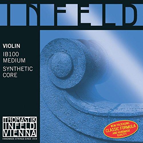 Thomastik 633879 Saiten für Violine Infeld Hybridkern, Satz blau 4/4 Medium - Violine Rot E-saite Infeld