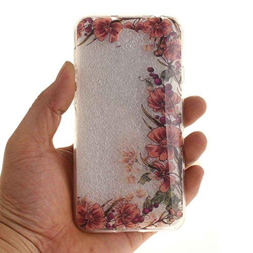 Guran® TPU Silikon Hülle für Apple iPhone 6 6S (4,7 Zoll) Smartphone Gemalt Schutzhülle Cover-Kirschbaum color a66