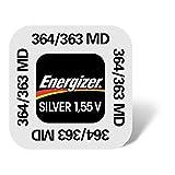 Energizer 364 - Batteria non ricaricabile SR621SW in blister, ossido d'argento, 1,55 V