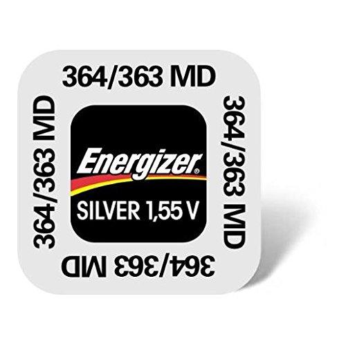 One (1) X Energizer 364 SR621SW Silver Oxide Uhren Batterie 1.55v klarsichtverpackt