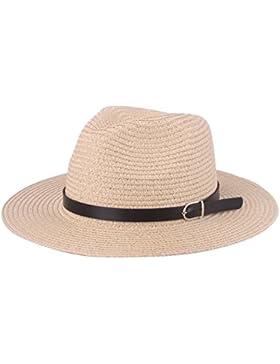 Sombrero de paja Floppy Sun, Playa unisex Sombreros de sol Protección UV Sombrero de tela tejida sombreros con...
