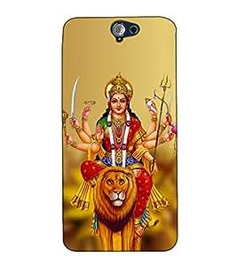 Fuson Designer Back Case Cover for HTC One A9 (Sherawali Mata theme)