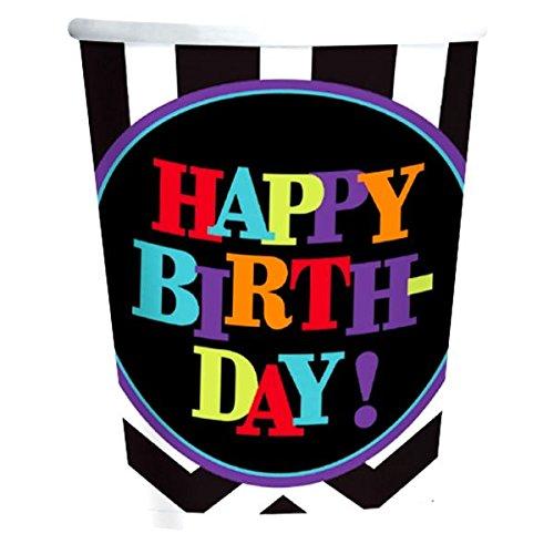 amscan 266ml Celebration Happy Birthday Pappbecher