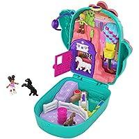 Polly Pocket Coffret Univers Le Ranch du Cactus avec mini-figurines Polly, Shani et chevaux, autocollants et surprises, jouet enfant, édition 2020, GKJ46
