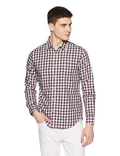 Amazon Brand- Symbol Checkered Regular Fit Casual Shirt (SS18-SMCS-119_Navy_XX-Large)