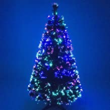 3bc62bca88f Christmas Concepts® 6ft Vert Arbre Fibre Optique Arbre Noël avec Multi LED  Source 180cm