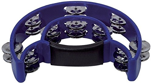 BSX 841577 Schellenring Halbmond (20-Paar verchromte Schellen) blau
