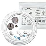 Wasserzulaufleitung Universal Anschluss-Set für Kühlschrank Side by Side. Wasserschlauch 6,4mm(1/4