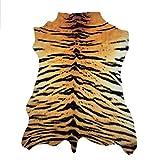 havatex Safari Hunter - Animal Print Konturenschnitt Tiger | realistischer Look | modernste Printtechnik | 100% Polyamid | stilvoller Hingucker | waschbar bei 30°, Farbe:Multicolor, Größe:95 x 135 cm