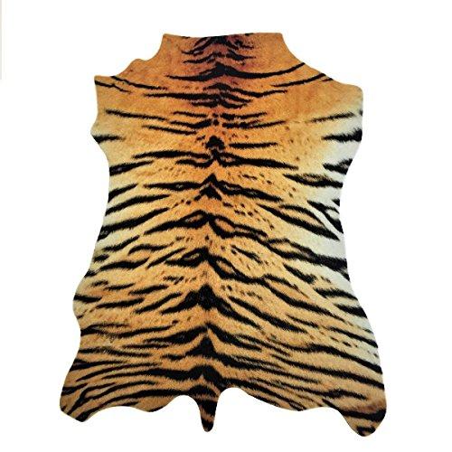 havatex Safari Hunter - Animal Print Konturenschnitt Tiger | realistischer Look | modernste Printtechnik | 100{8742922f95d8e49394e40e4ec64bc7bff8b856aa56d714cdd3d0e0e276a7ee8d} Polyamid | stilvoller Hingucker | waschbar bei 30°, Farbe:Multicolor, Größe:95 x 135 cm