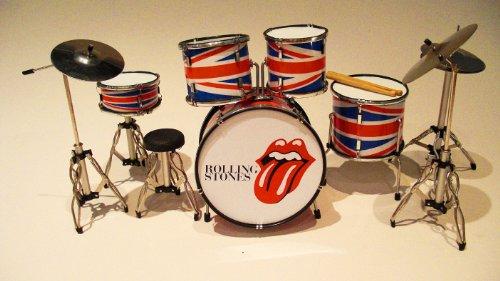 Unbekannt RGM334Rolling Stones Lippen Miniaturschlagzeug -