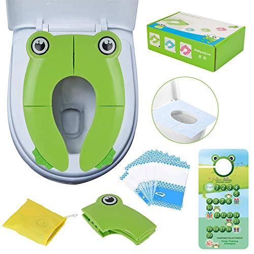 Portable Pliable pour Siège de Toilette,Réducteurs de Toilettes pour Enfants,Housse de Siège de...