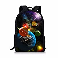 Coloranimal Fashion Galaxy Backpack Universe Planets Printing School Bags for Kids