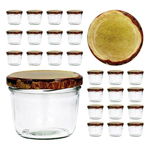 CapCro 25er Set Sturzglas 230 ml to 82 – Verschiedene Deckelfarben wählbar – Marmeladenglas Einmachglas Einweckglas