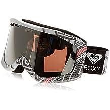 Roxy Sunset - Máscara de snowboard para mujer, color Blanco (Windy Road_true black), Talla única