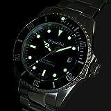Gigandet Automatik Herren-Armbanduhr Sea Ground Taucheruhr Uhr Datum Analog Edelstahlarmband Schwarz Grün G2-005 - 5