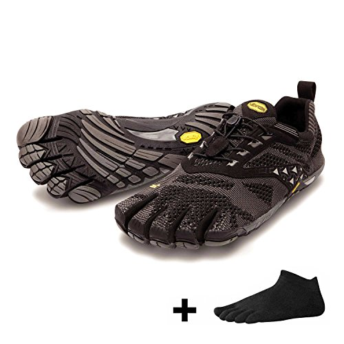 Vibram FiveFingers KMD EVO Men + Zehensocke, Size:41;Color:Black/Grey