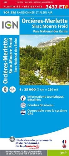 Orcières-Merlette / Sirac / Mourre Froid/PNR Ecrins gps wp (Ign Map)