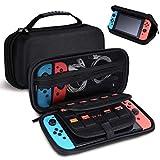 Custodia per Nintendo Switch, con 19 Slot per Schede di Gioco Custodia da Viaggio con Manico per Nintendo Switch (Nero)